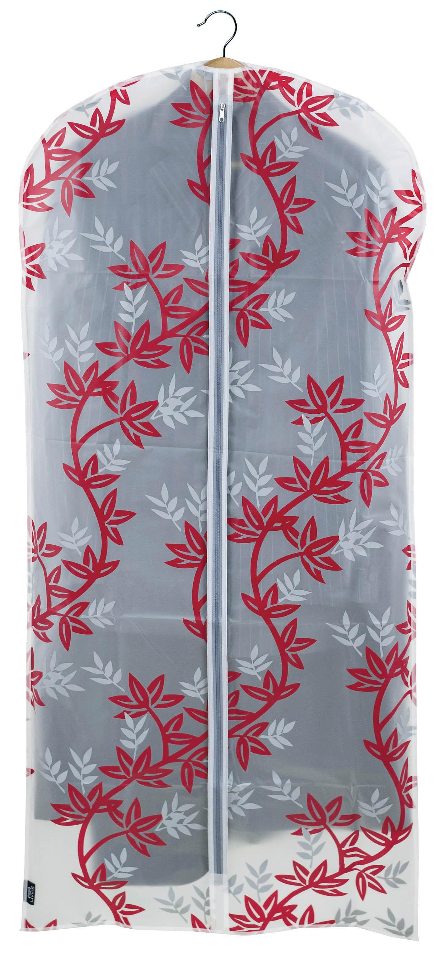 DOMOPAK Living Ochranný obal na šaty s uzavíráním na zip s větvičkami