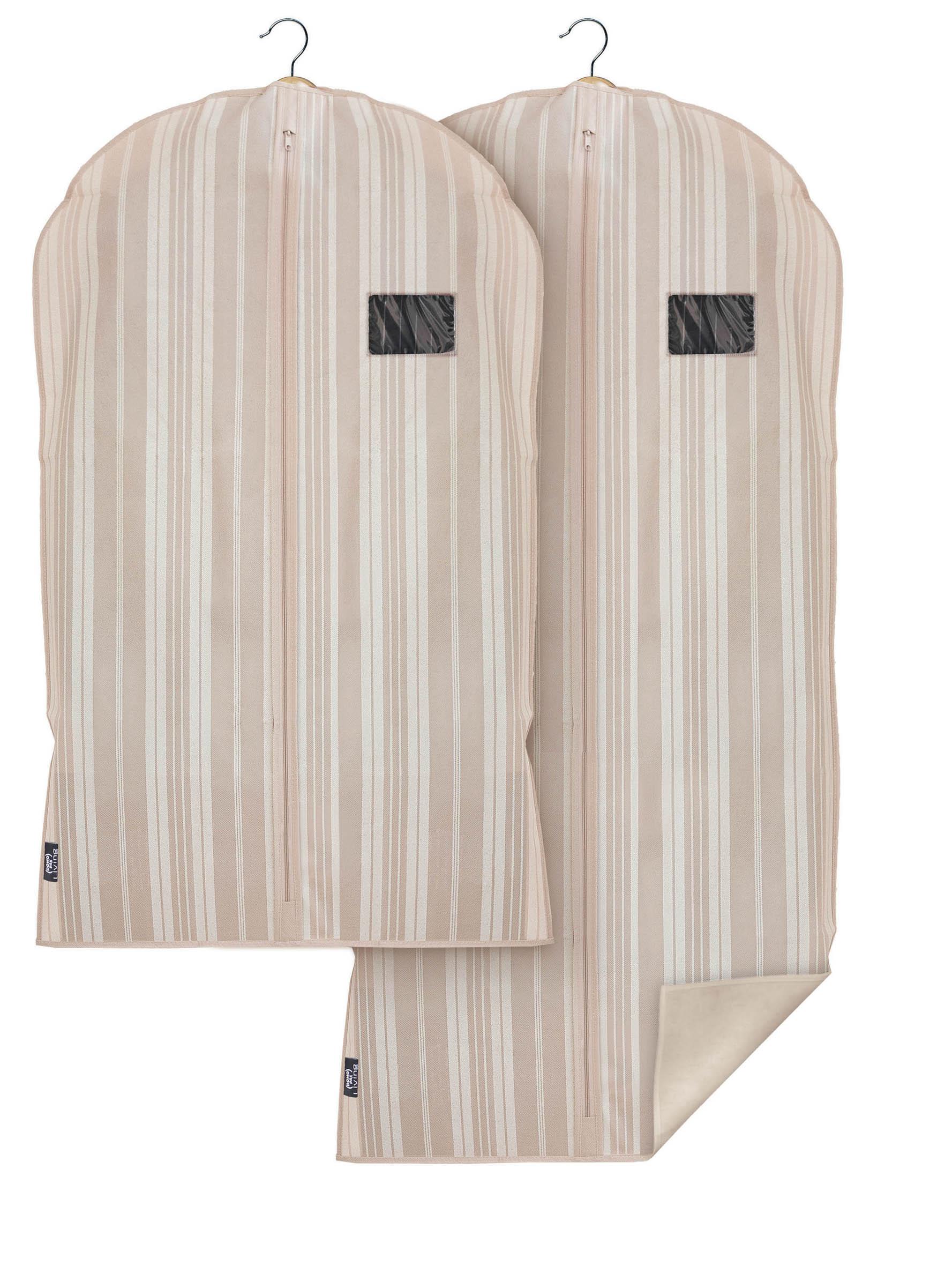 DOMOPAK Living Ochranný obaly na oblek a šaty s uzavíráním na zip set 2ks