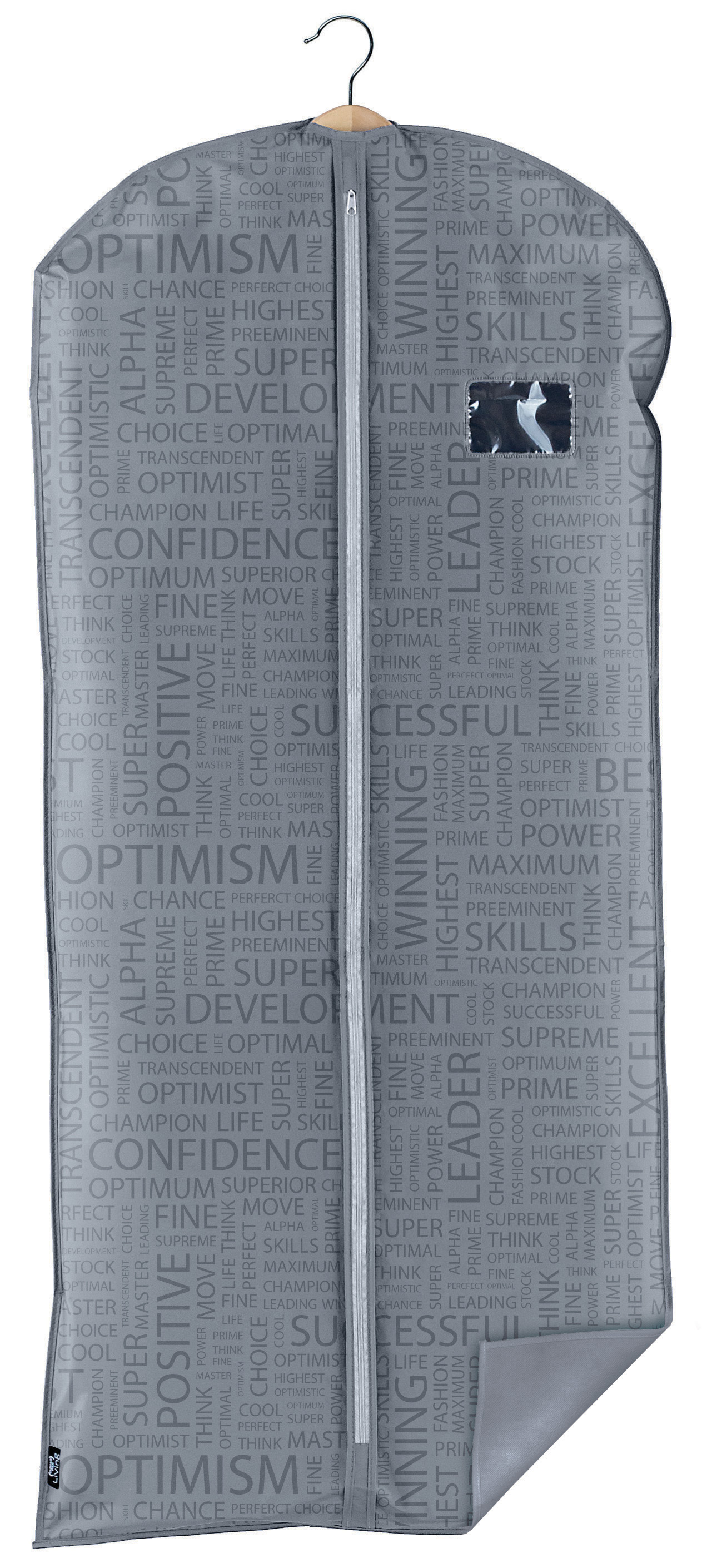 DOMOPAK Living Ochranný obal na šaty s uzavíráním na zip šedý