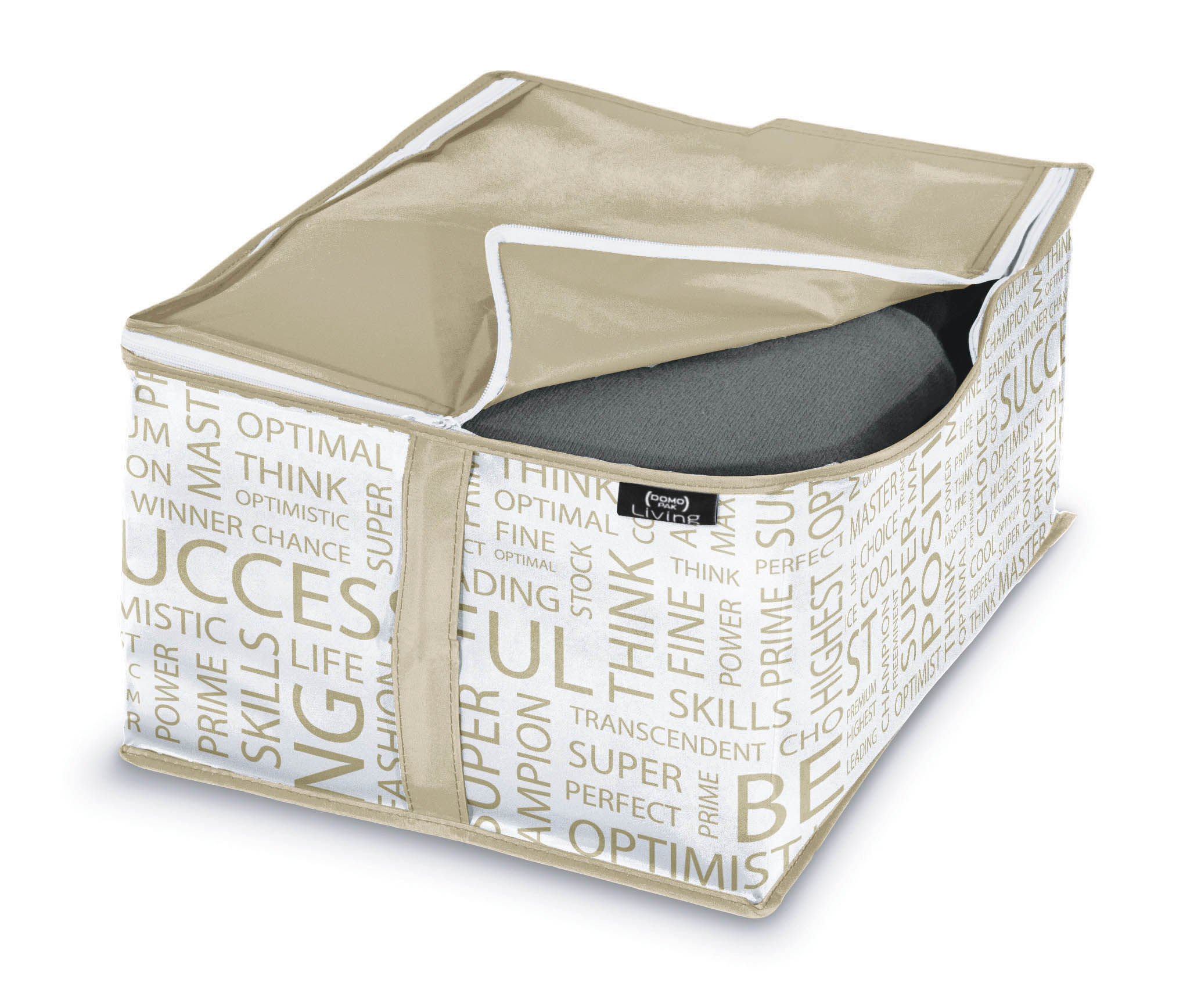 DOMOPAK Living Úložné boxy béžové Velikost: malý