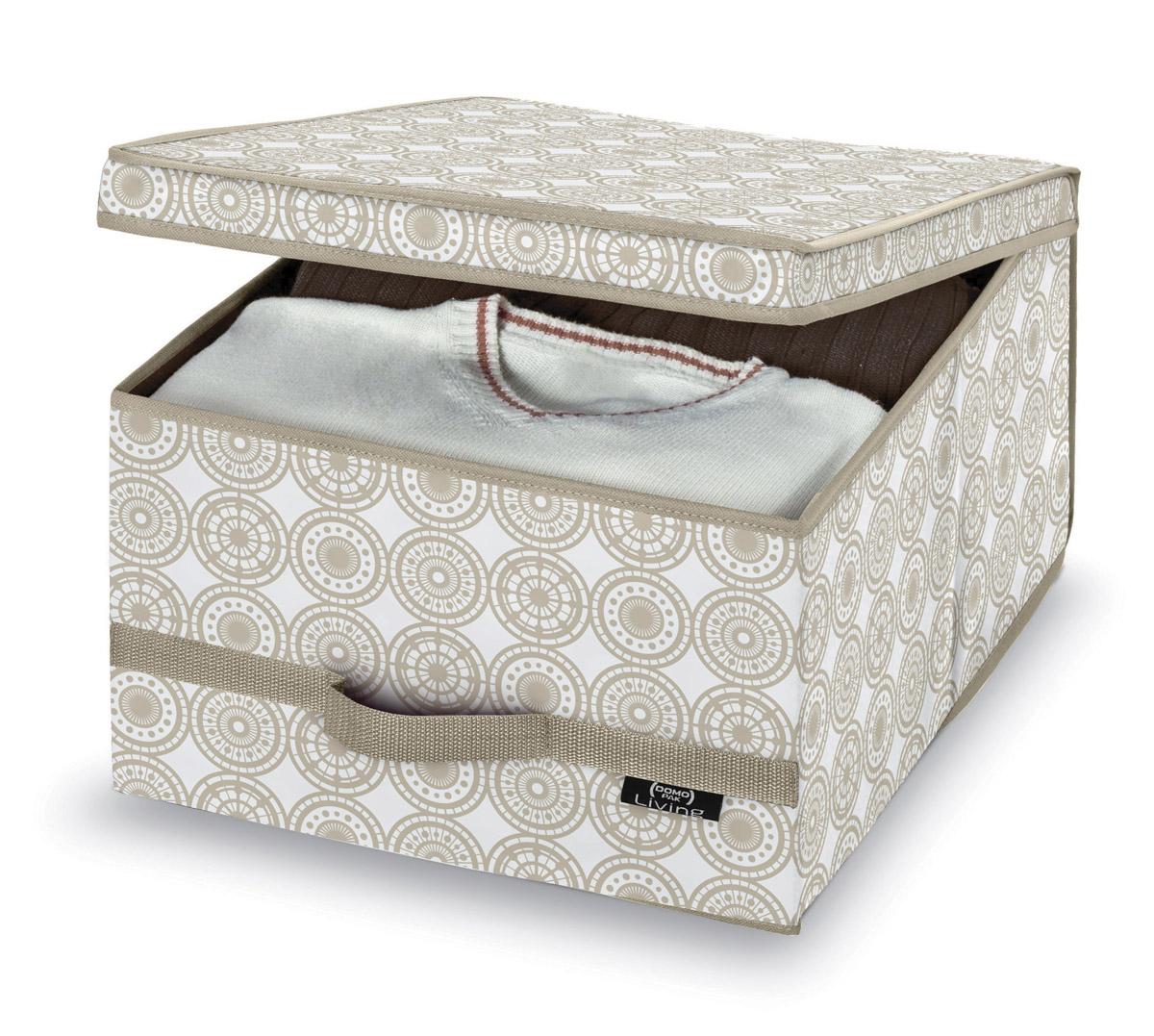 DOMOPAK Living Úložné boxy s úchytem s ornamenty Velikost: větší