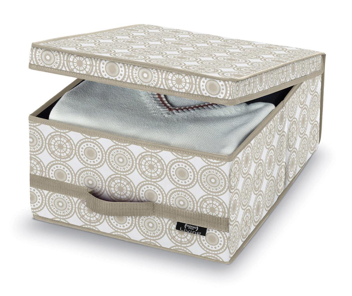 DOMOPAK Living Úložné boxy s úchytem s ornamenty Velikost: menší
