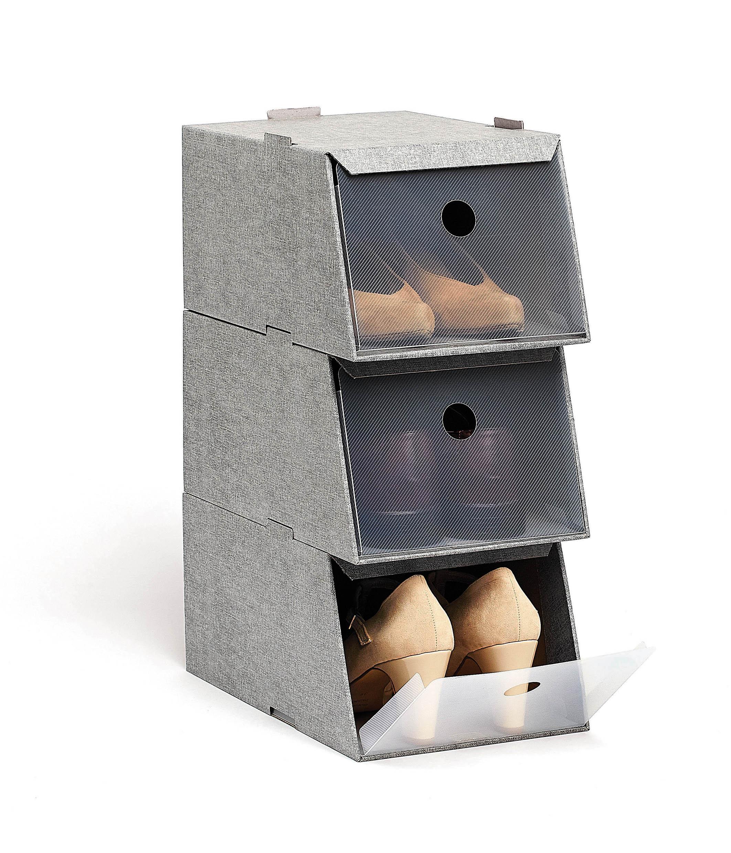 DOMOPAK Living Úložné boxy na boty sada 3ks Barva: šedá