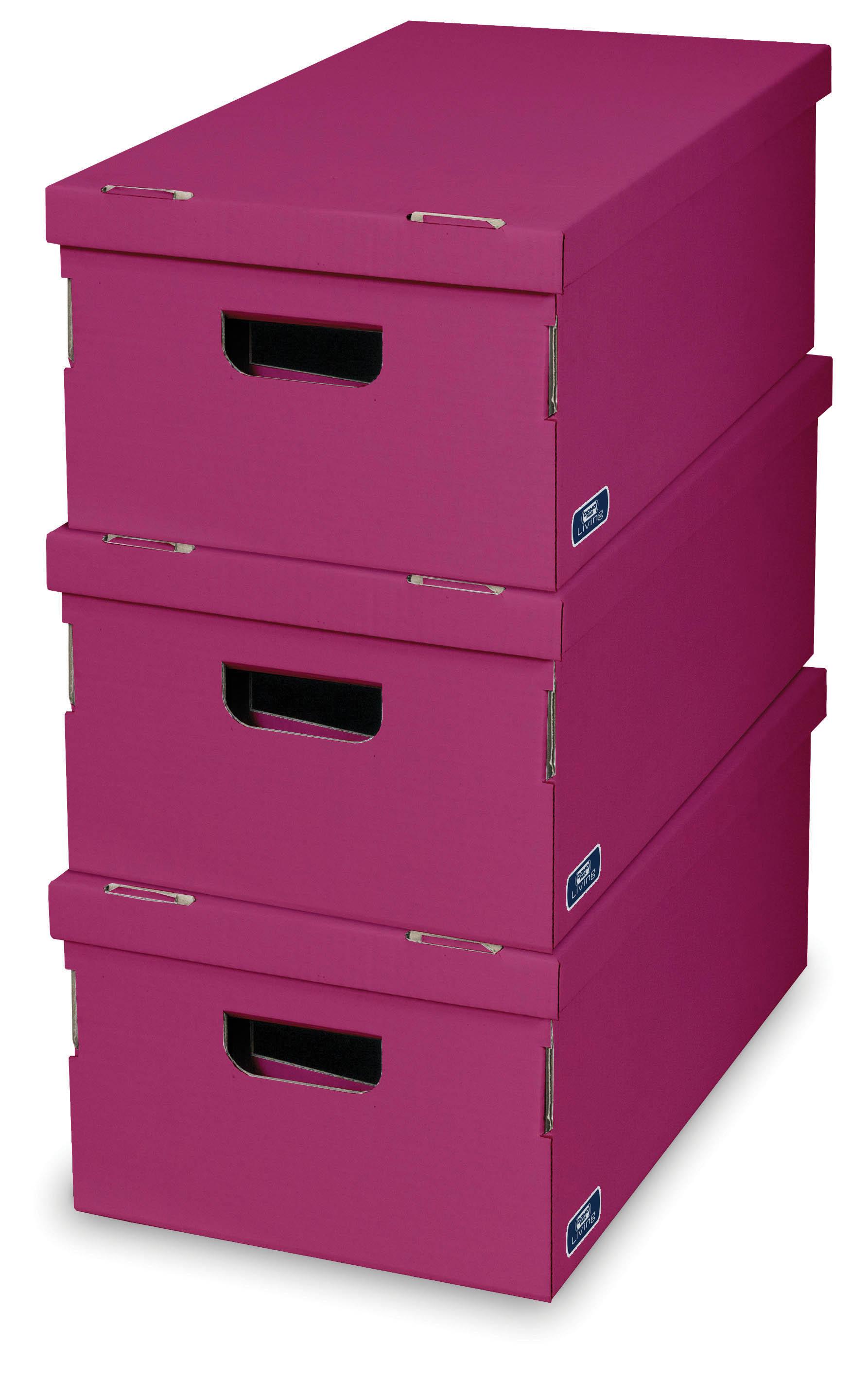 DOMOPAK Living Úložné boxy set 3ks Barva: růžová