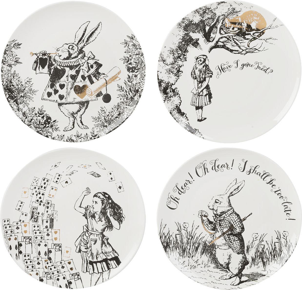 Creative Tops Porcelánové dezertní talíře Alice In Wonderland