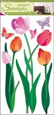Anděl Přerov Samolepky na zeď barevné tulipány 69x32cm