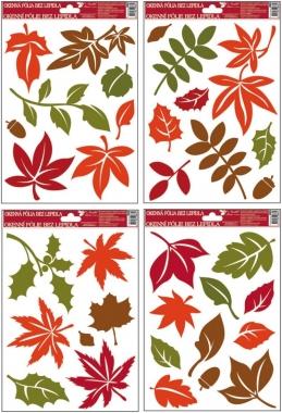 Anděl Přerov Okenní fólie barevné podzimní listy 30x20cm set 4ks