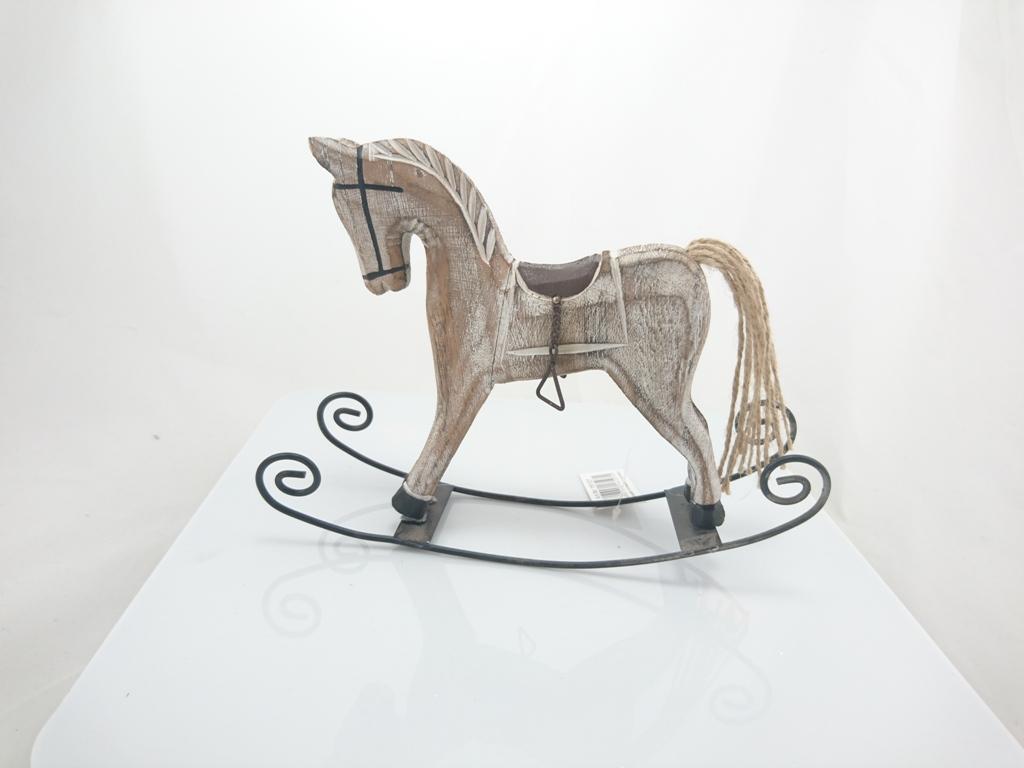 Houpací kůň dřevo 22x17x5cm Provedení: hnědá
