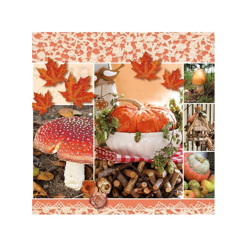 Papírové ubrousky podzimní koláž balení 20ks