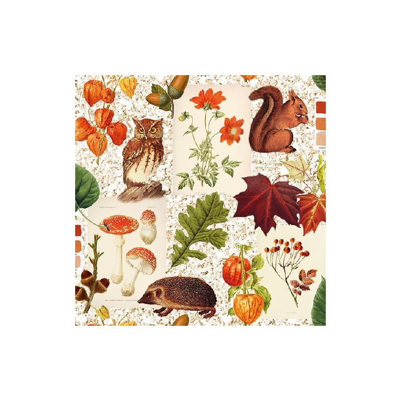 Papírové ubrousky podzimní variace balení 20ks