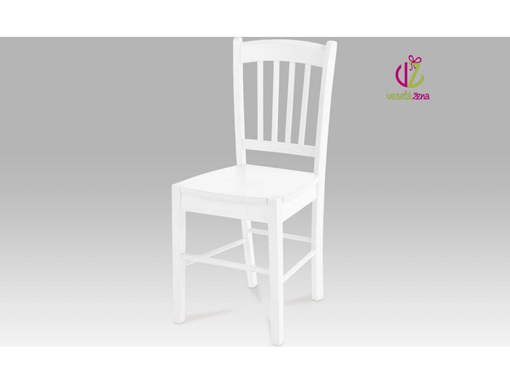 Jídelní židle dřevěná 40x36x85x45cm Barva: bílá