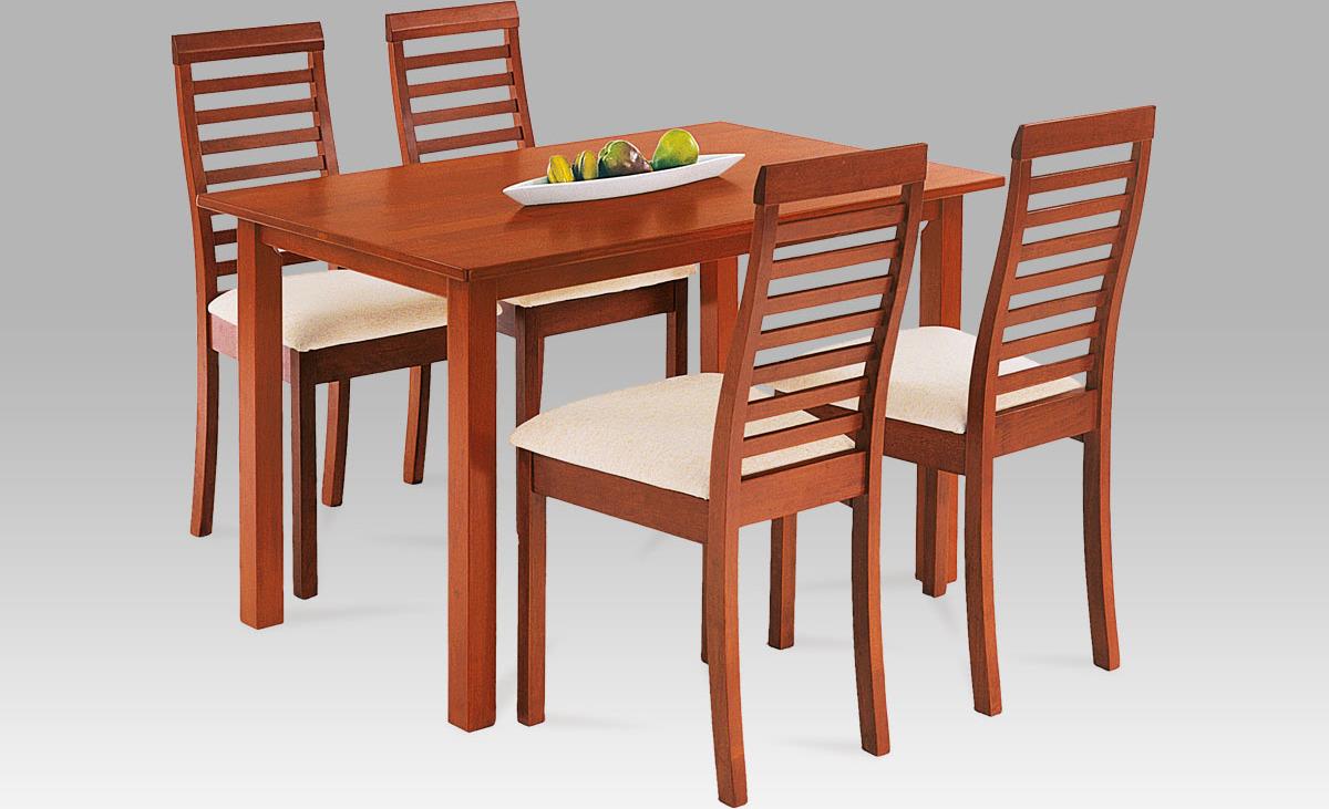 Jídelní set - stůl a 4ks židle Barva: třešeň