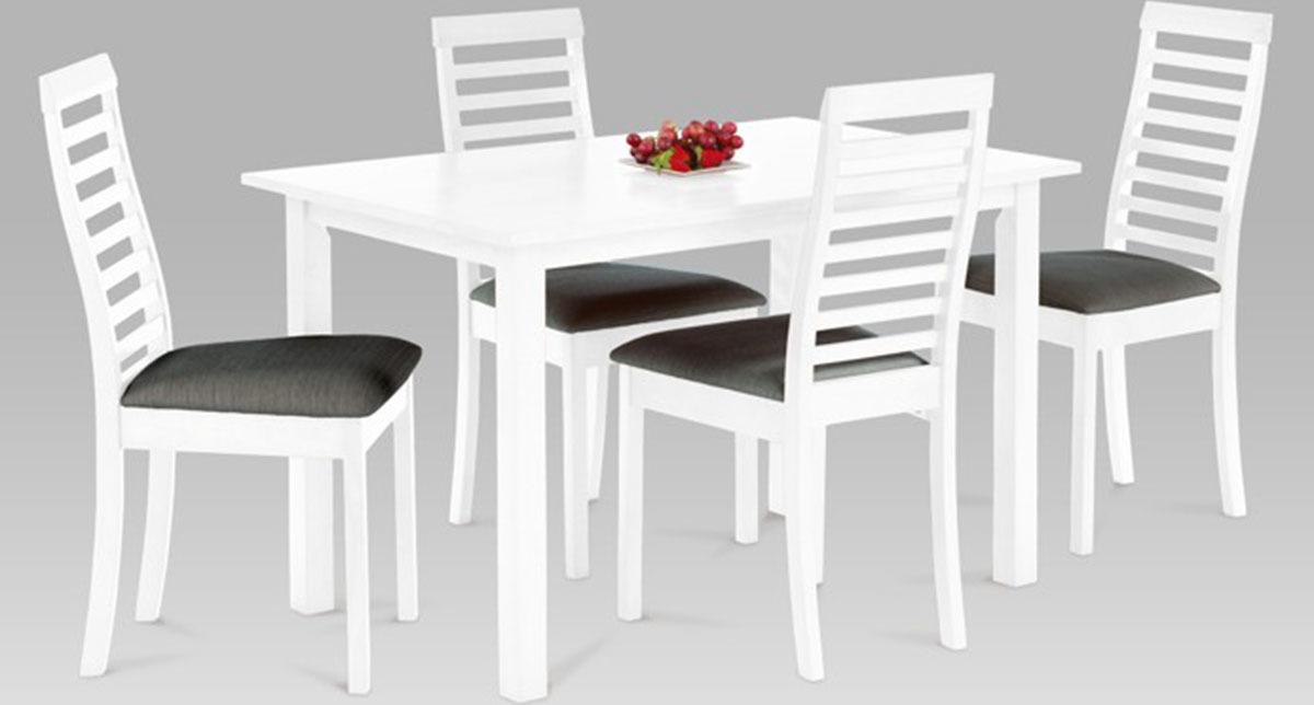 Jídelní set - stůl a 4ks židle Barva: bílá