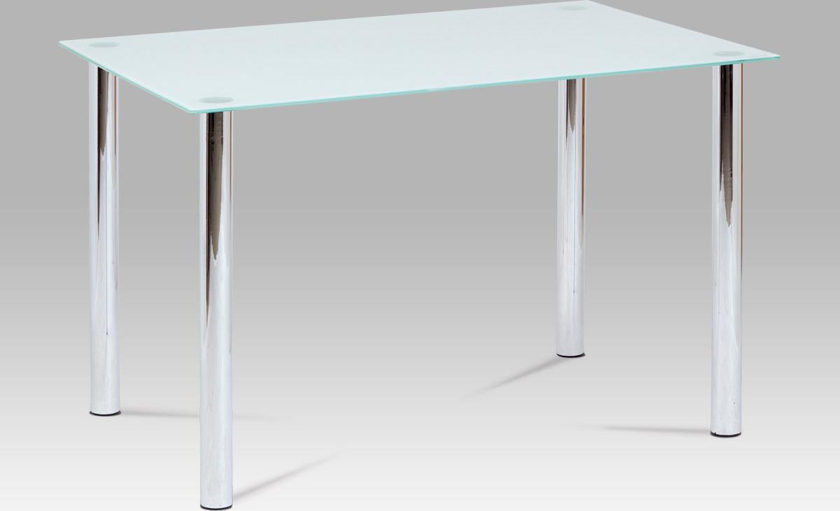 Jídelní stůl skleněný bílý 120x80cm