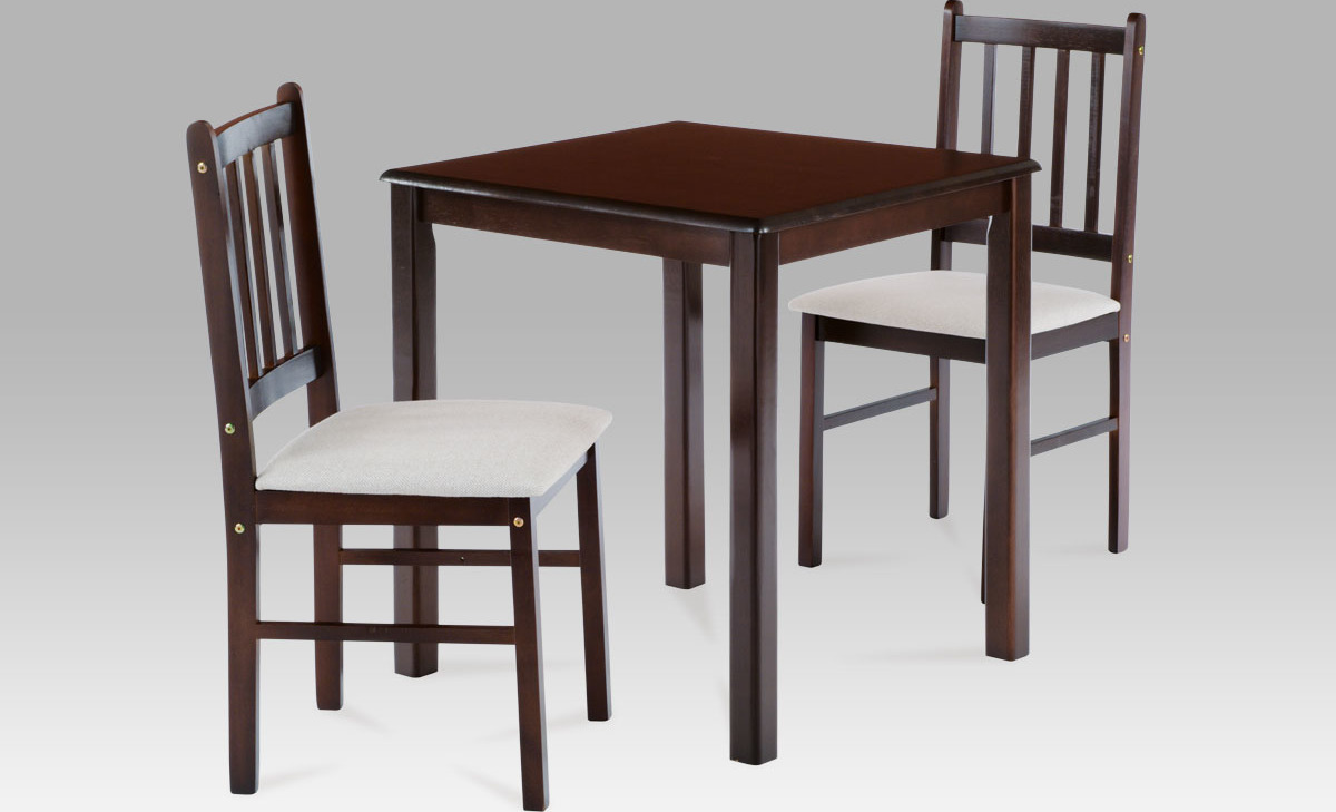 Jídelní set - stůl a židle 2ks - Jaguar Barva: ořech