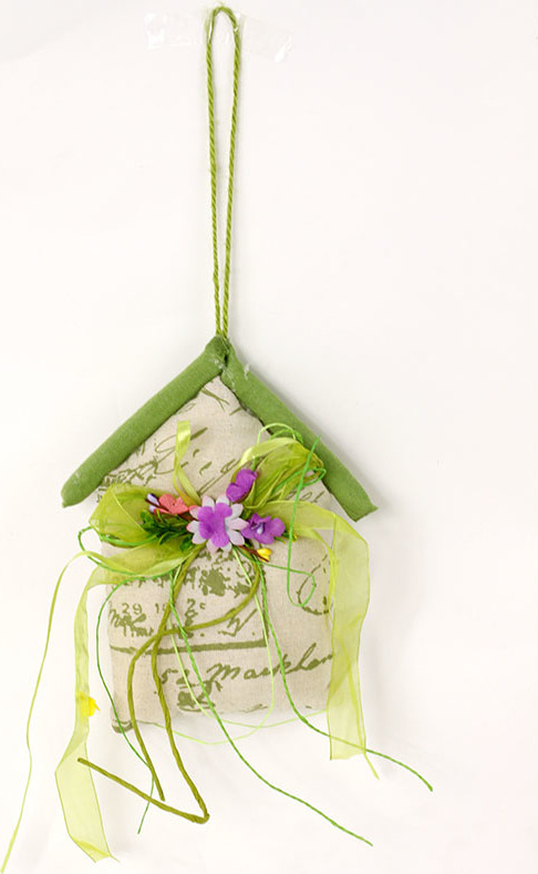 Domeček textilní dekorační závěs